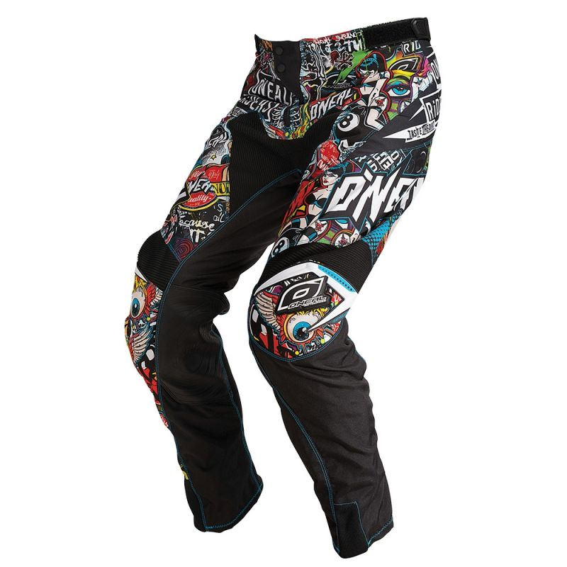 Pantalon cross O'Neal Mayhem Lite Crank noir/multicolore