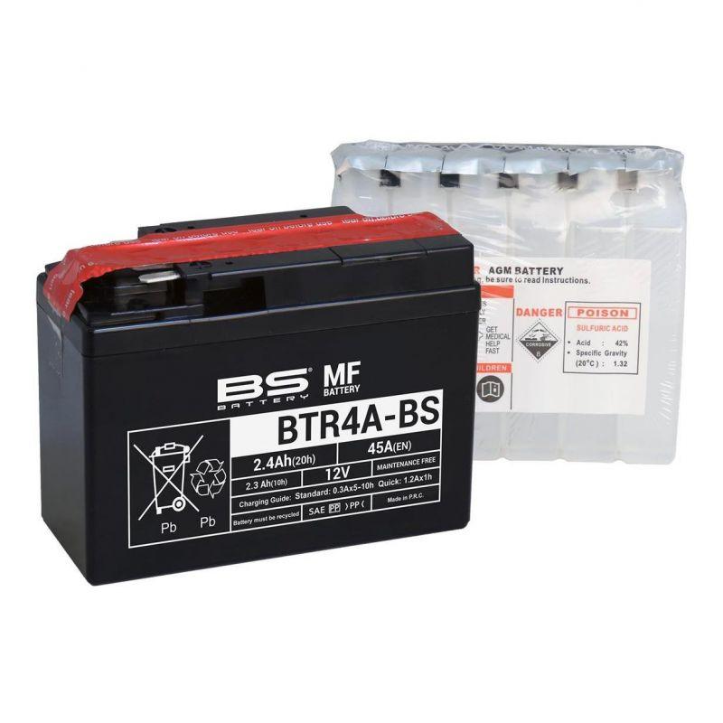 Batterie BS Battery BTR4A-BS 12V 2,4Ah MF avec pack acide