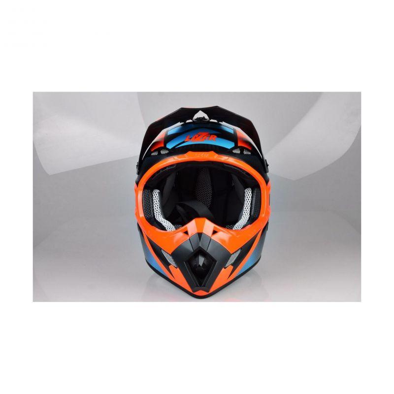 Casque cross Lazer MX8 X-team Carbon carbone/bleu/orange mat - 1