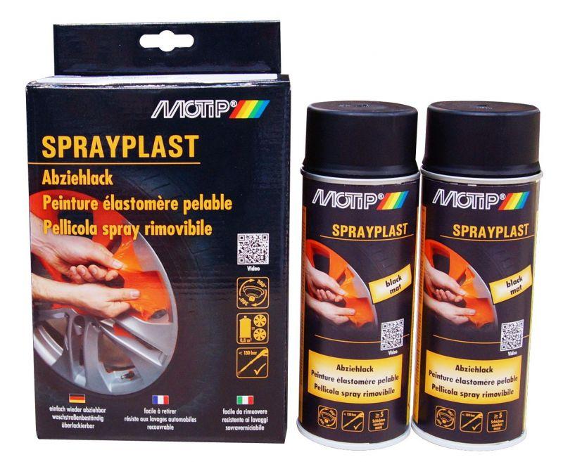 kit spray peinture lastom re motip noir mat peinture sur la b canerie. Black Bedroom Furniture Sets. Home Design Ideas