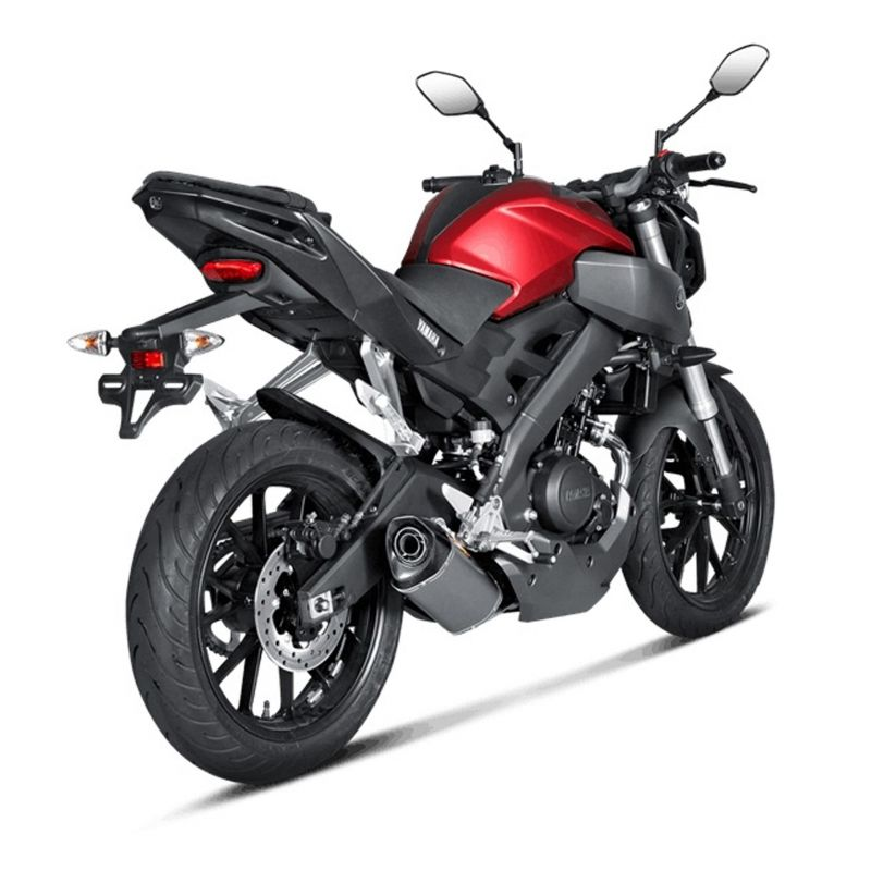ligne compl te akrapovic racing titanium yamaha mt 125 14 16 euro 3 pi ces echappement sur la. Black Bedroom Furniture Sets. Home Design Ideas