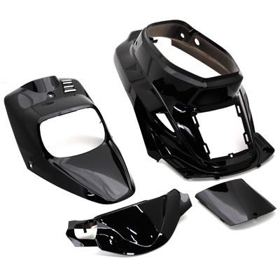 kit carrosserie 4 pi ces noir brillant adaptable booster spirit bw 39 s original pi ces car nage. Black Bedroom Furniture Sets. Home Design Ideas