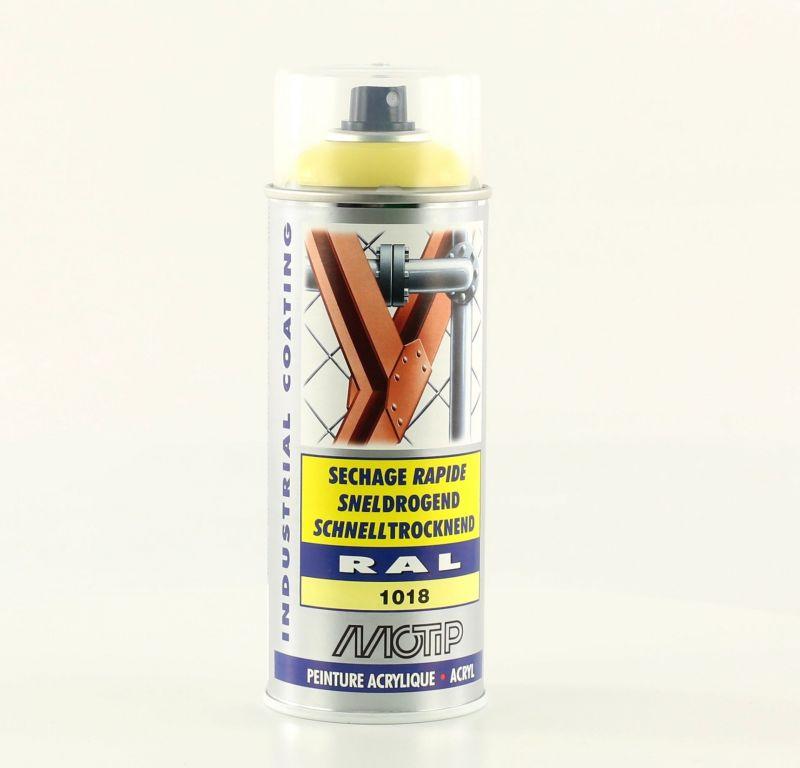 bombe peinture jaune zinc brillant acrylique ral 1018 motip 400 ml m07063 peinture sur la. Black Bedroom Furniture Sets. Home Design Ideas
