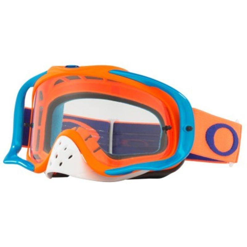 Masque cross Oakley Crowbar orange bleu écran transparent ... 33c36e2cd504