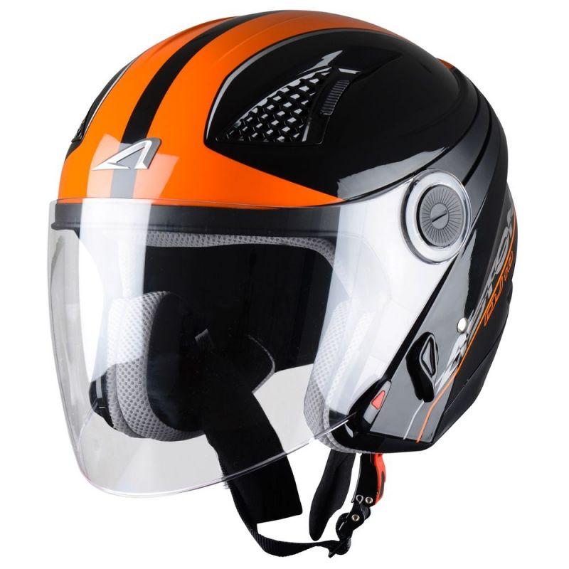 casque jet femme astone dj10 balistic noir orange casques moto sur la b canerie. Black Bedroom Furniture Sets. Home Design Ideas