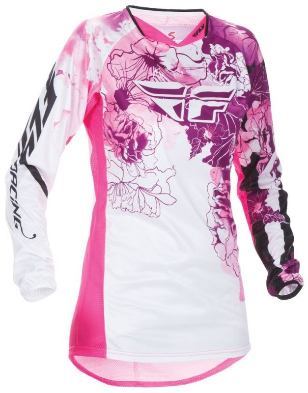 Maillot fille cross Fly Racing Kinetic rose/violet