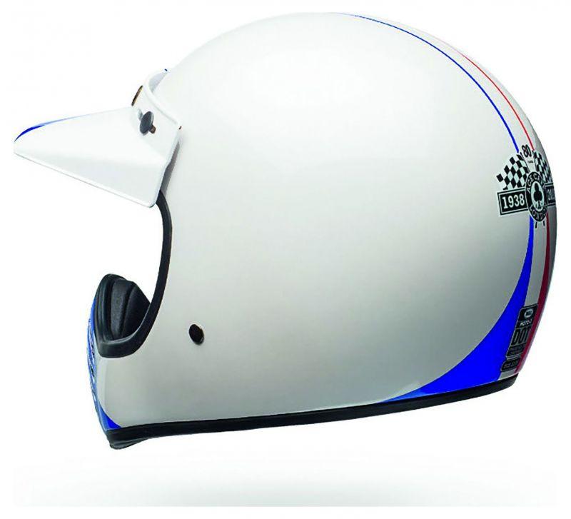 Casque Bell Moto 3 Ace Café GP 66 Gloss blanc/rouge - 4