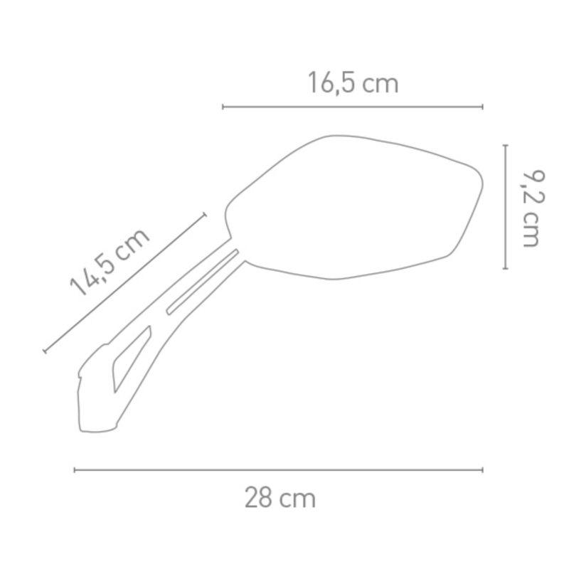 Rétroviseurs Chaft Grenade homologués noir mat (paire) - 2