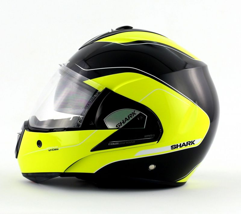 casque modulable shark evoline 3 arona hi vis noir jaune pi ces casques moto sur la b canerie. Black Bedroom Furniture Sets. Home Design Ideas