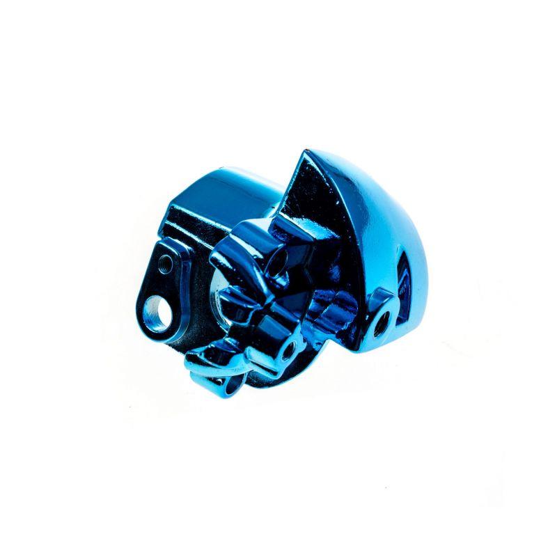 Commodo TNT Tuning bas droit Nitro/Aerox  anodisé bleu