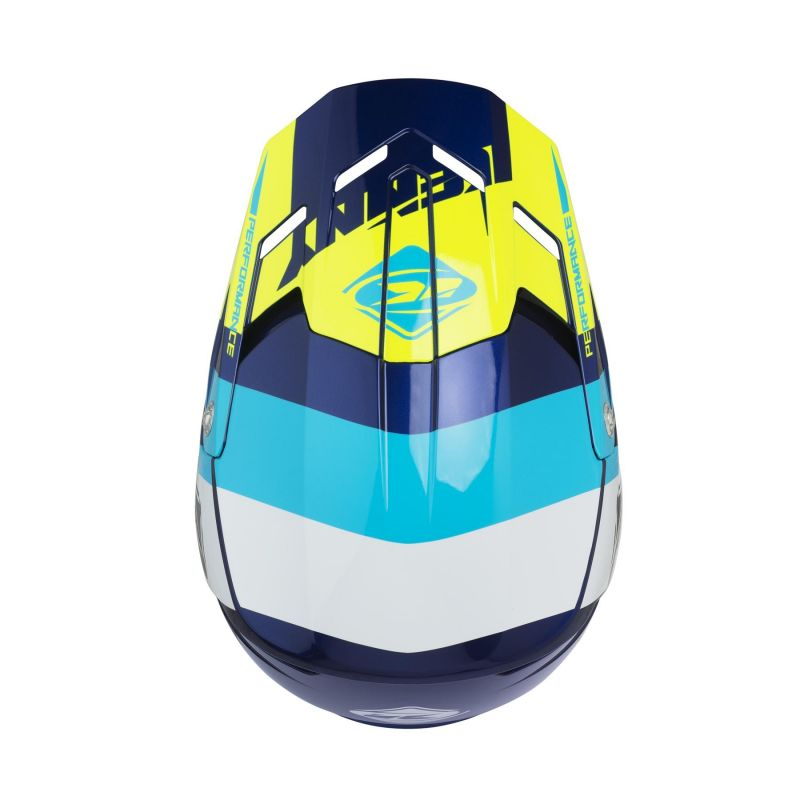 Casque cross Kenny Performance bleu/blanc/turquoise - 2