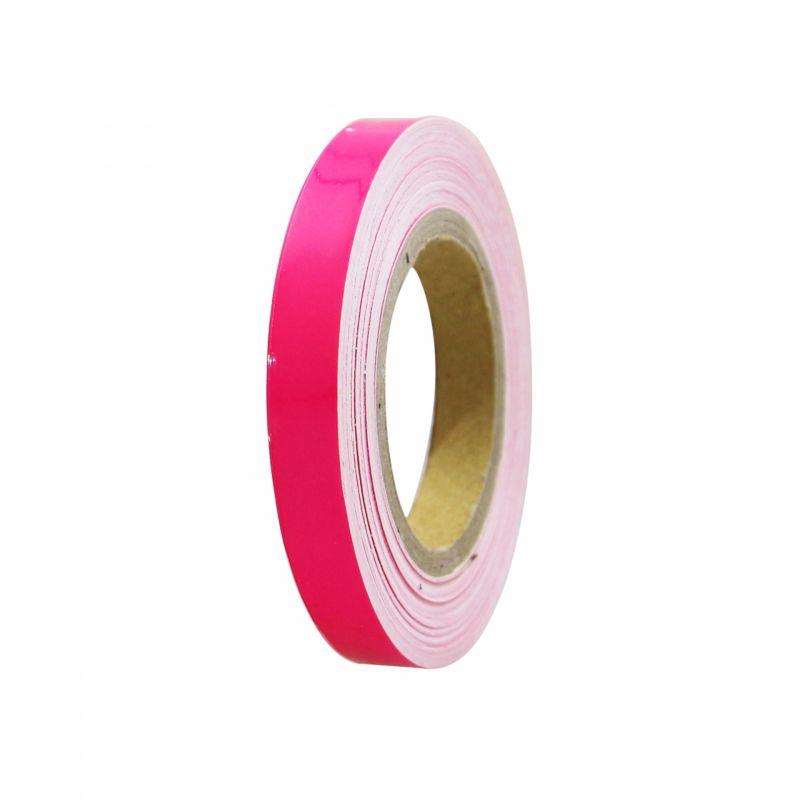 Liseret de jante 7mm x 6m rose avec applicateur - 2