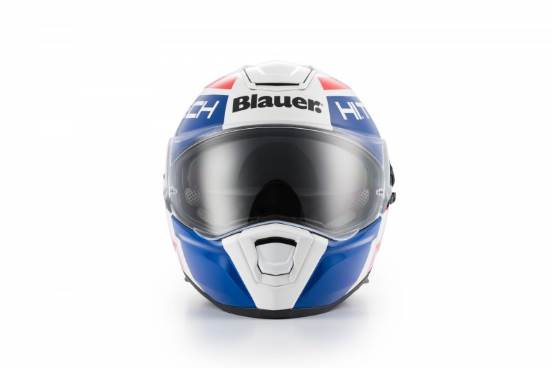 Casque Blauer Force One 800 Blanc/Bleu/Rouge Brillant - 3