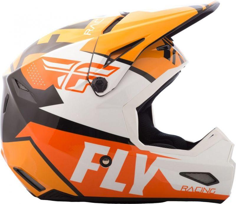 Casque cross Fly Racing Elite Guild noir/orange/blanc - 1
