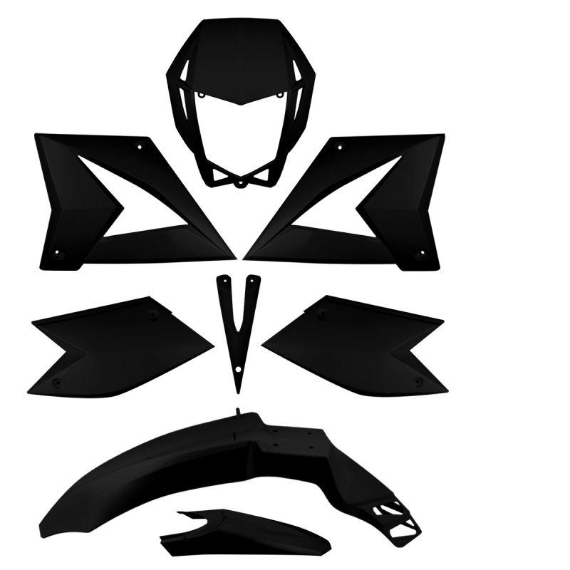 Kit carrosserie Noir CPI SM SX 50 (8 pièces)