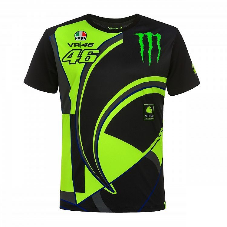 Tee-shirt VR46 Valentino Rossi Replica Monster Dual noir/jaune 2019