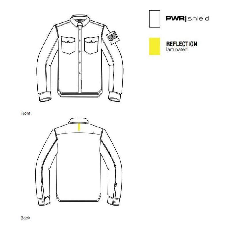 Sur-chemise moto Rev'it Bison noir/gris - 1