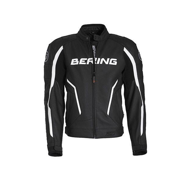 Bering Gear Bécanerie Cuir La Équipement Noirblanc Blouson Route Sur 1E5xqEw8