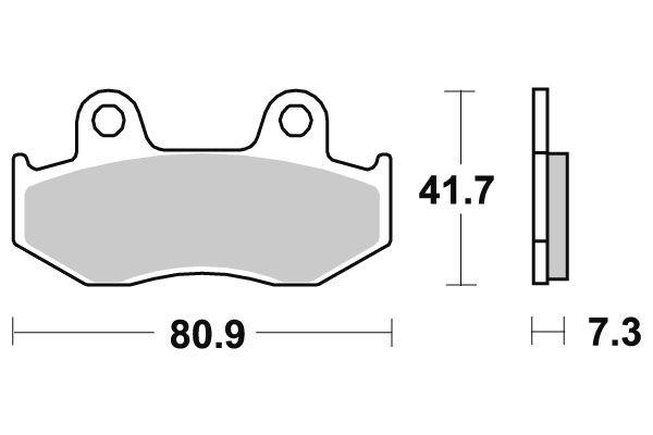 plaquettes de frein sbs c ramique 104hf pi ces freinage sur la b canerie. Black Bedroom Furniture Sets. Home Design Ideas
