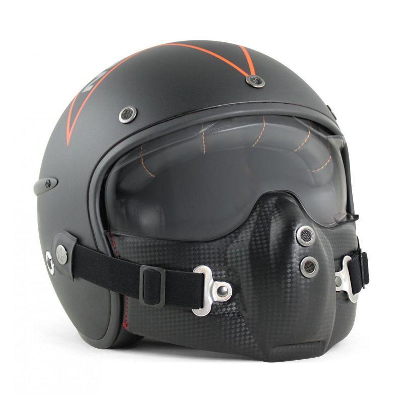 Casque jet Harisson Corsair noir/orange mat - 1
