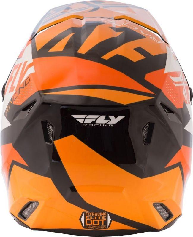 Casque cross Fly Racing Elite Guild noir/orange/blanc - 2