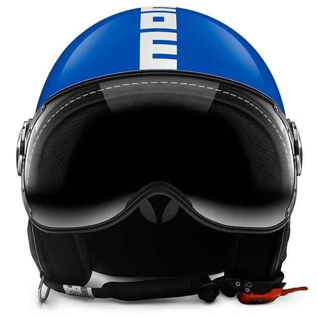 casque jet momo design fgtr classic bleu blanc casques moto sur la b canerie. Black Bedroom Furniture Sets. Home Design Ideas