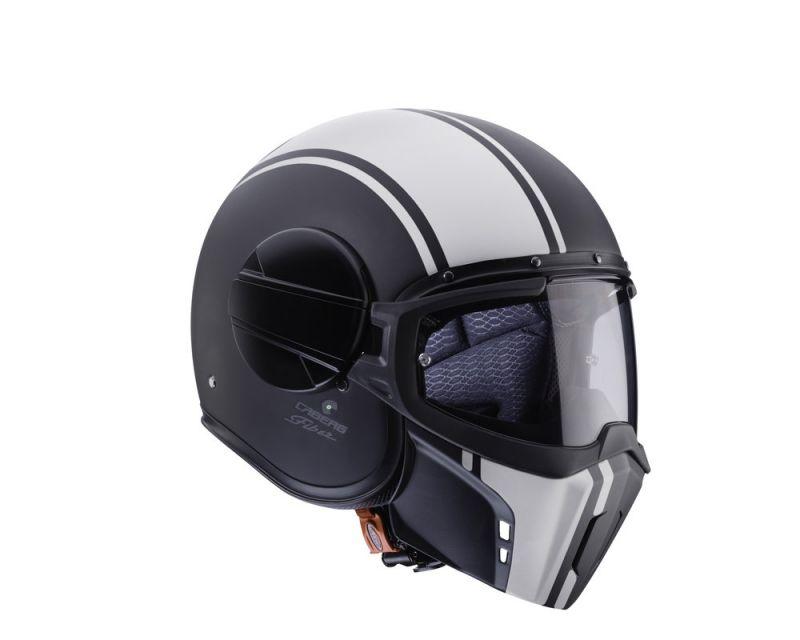 casque jet caberg ghost legend mat noir blanc casques moto sur la b canerie. Black Bedroom Furniture Sets. Home Design Ideas