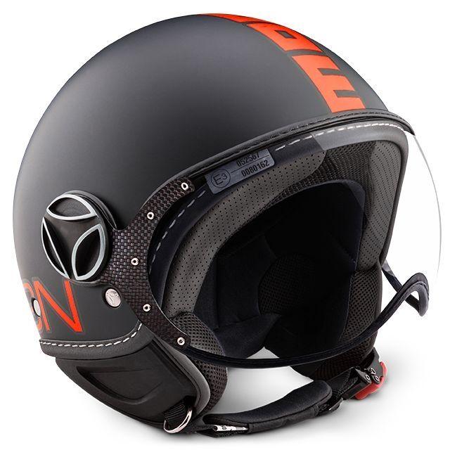 Casque Jet Momo Design Fgtr Fluo Noir Matorange Casques Moto Sur