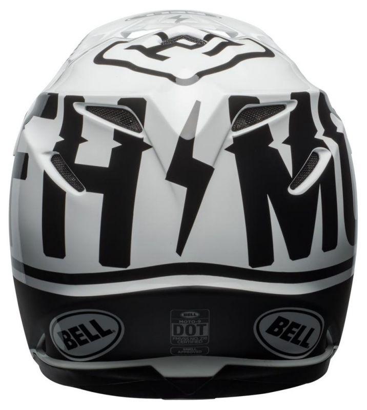 Casque cross Bell Moto 9 Mips Fasthouse Gloss noir mat/blanc - 4