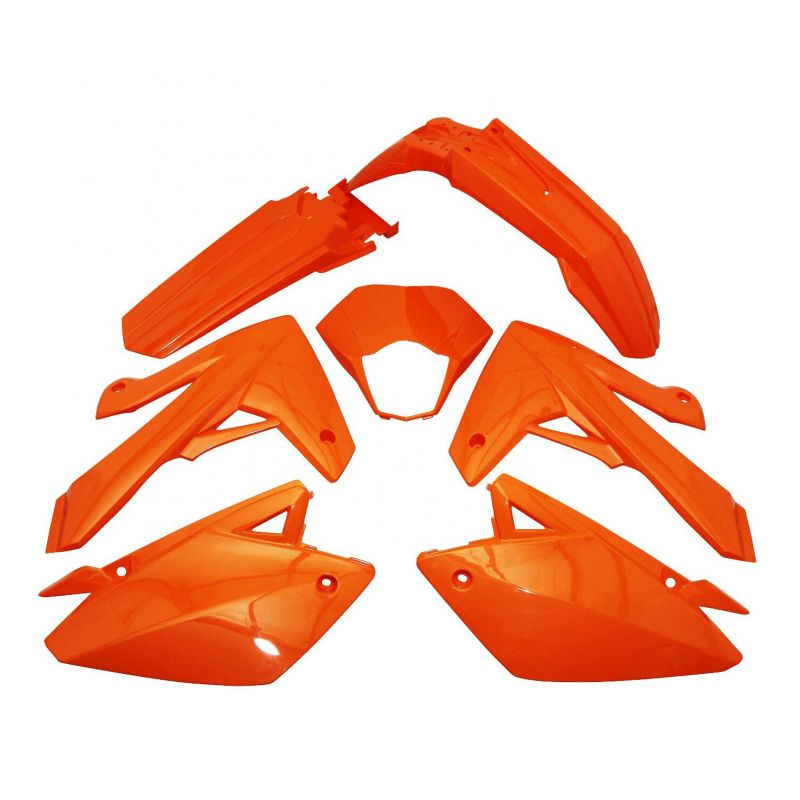 Kit carénage Rieju 50 MRT / MRT Pro 09- orange brillant