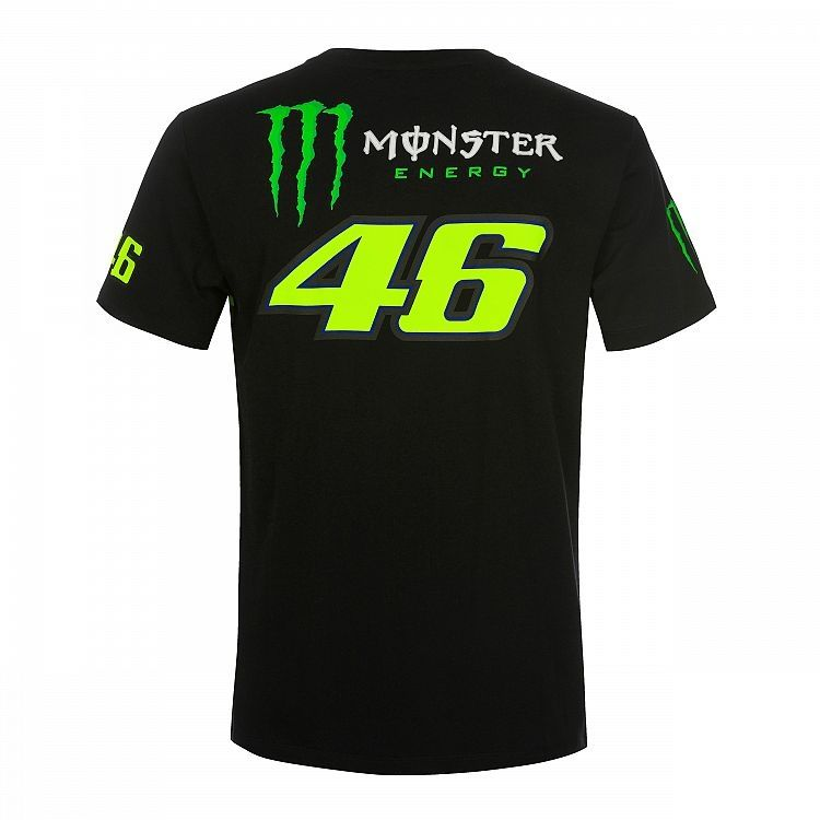 Tee-shirt VR46 Valentino Rossi Replica Monster Dual noir/jaune 2019 - 1