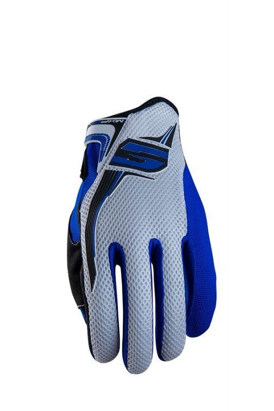 gants five mxf3 blanc bleu quipement cross sur la b canerie. Black Bedroom Furniture Sets. Home Design Ideas