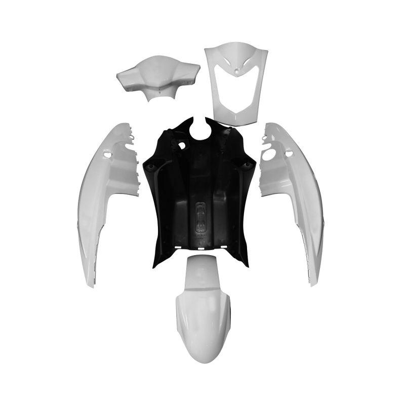 kit carrosserie 6 pi ces blanc brillant adaptable agility pi ces car nage sur la b canerie. Black Bedroom Furniture Sets. Home Design Ideas
