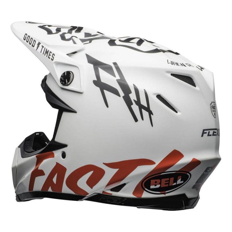 Casque cross Bell Moto 9 Flex Fasthouse WRWF mat/brillant blanc/rouge - 6