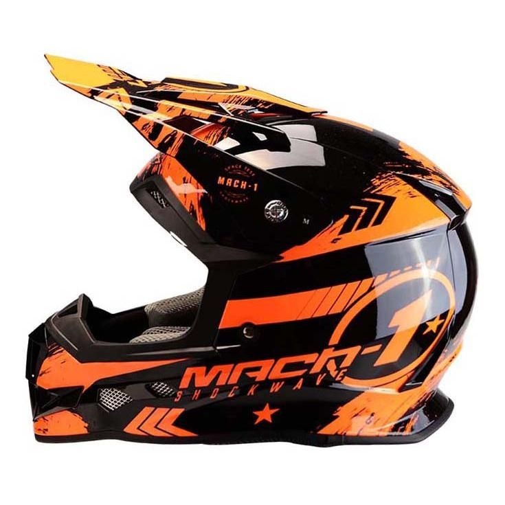 Casque cross Trendy T-902 Mach1 noir / orange - 3