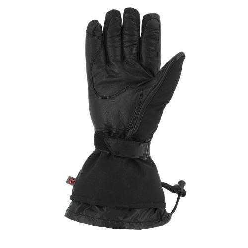 Gants cuir/textile chauffants V'Quattro Alpha 18 Heating noir - 1