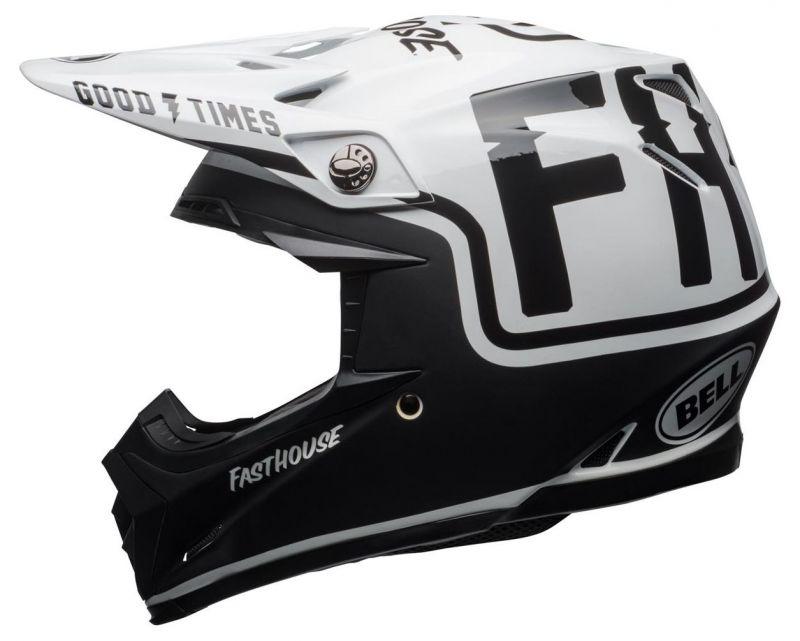 Casque cross Bell Moto 9 Mips Fasthouse Gloss noir mat/blanc - 2
