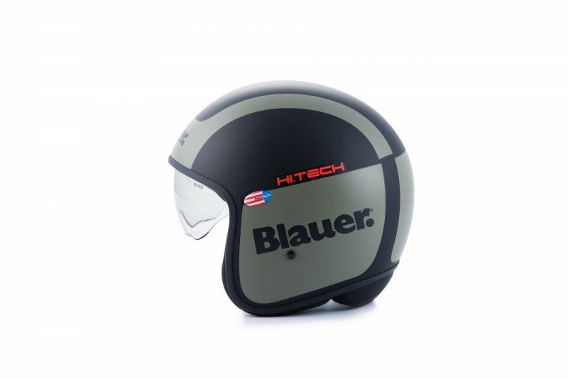Casque Blauer Pilot 1.1 Graphic G Noir Mat/Vert kaki - 1