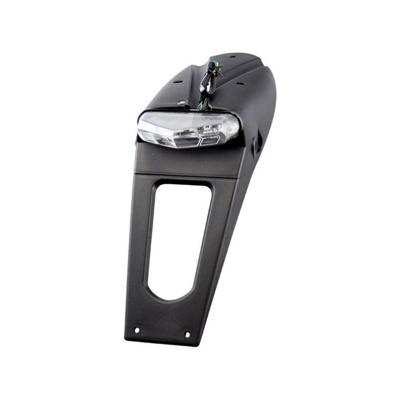 Bavette avec feu arrière LED Tun'R avec support de plaque