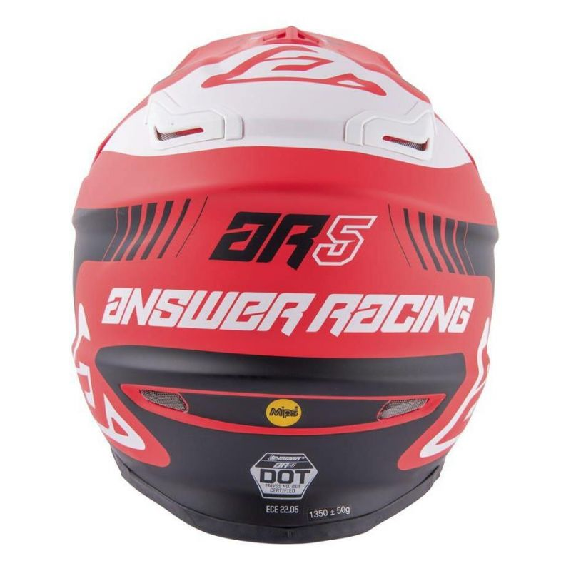 Casque cross Answer AR5 Pulse rouge/blanc - 5