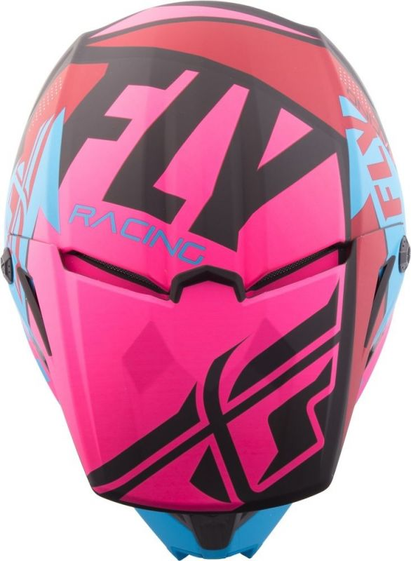 Casque cross Fly Racing Elite Guild noir/rose/bleu - 3