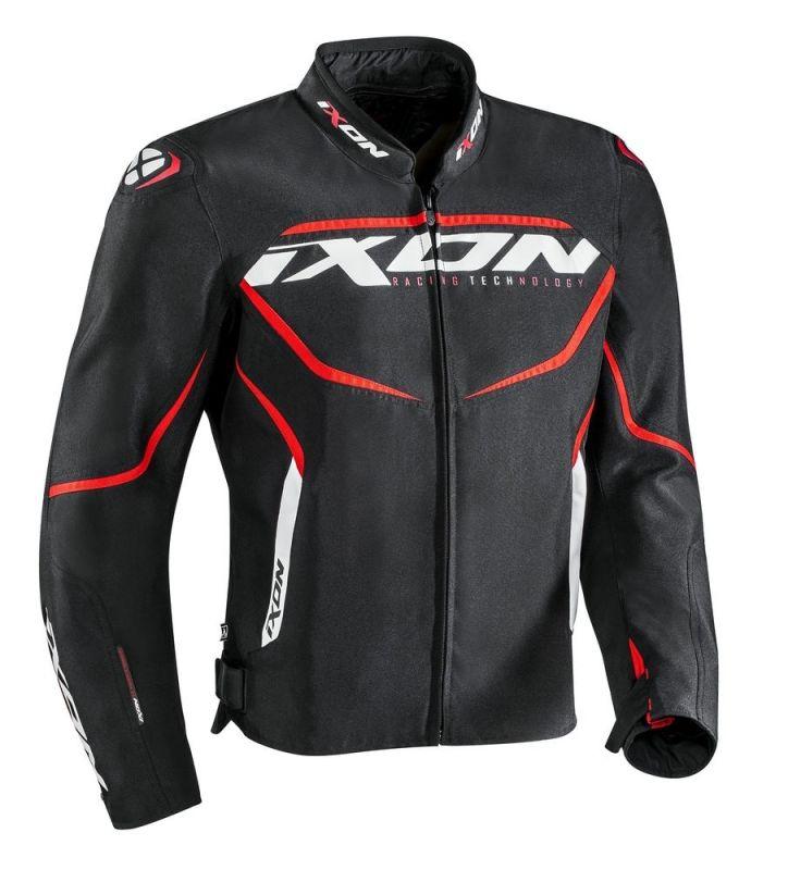Blouson textile Ixon SPRINTER noir/rouge