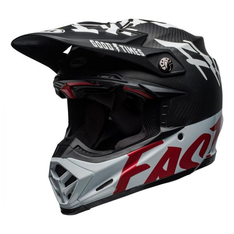 Casque cross Bell Moto-9 Flex Fasthouse WRWF noir/blanc/rouge