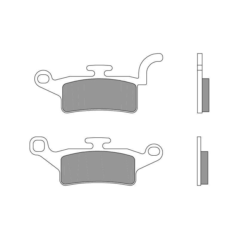 plaquettes de frein brembo 07093cc carbone c ramique avant pi ces freinage sur la b canerie. Black Bedroom Furniture Sets. Home Design Ideas
