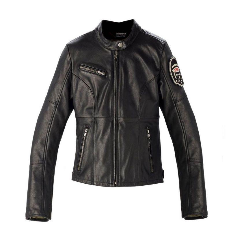 Lady Noir Blouson Cuir Leather Équipement Originals Spidi Femme gxXTwXqFp