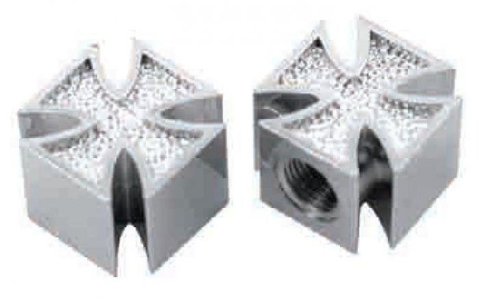 Bouchons de valve croix de malte (paire)