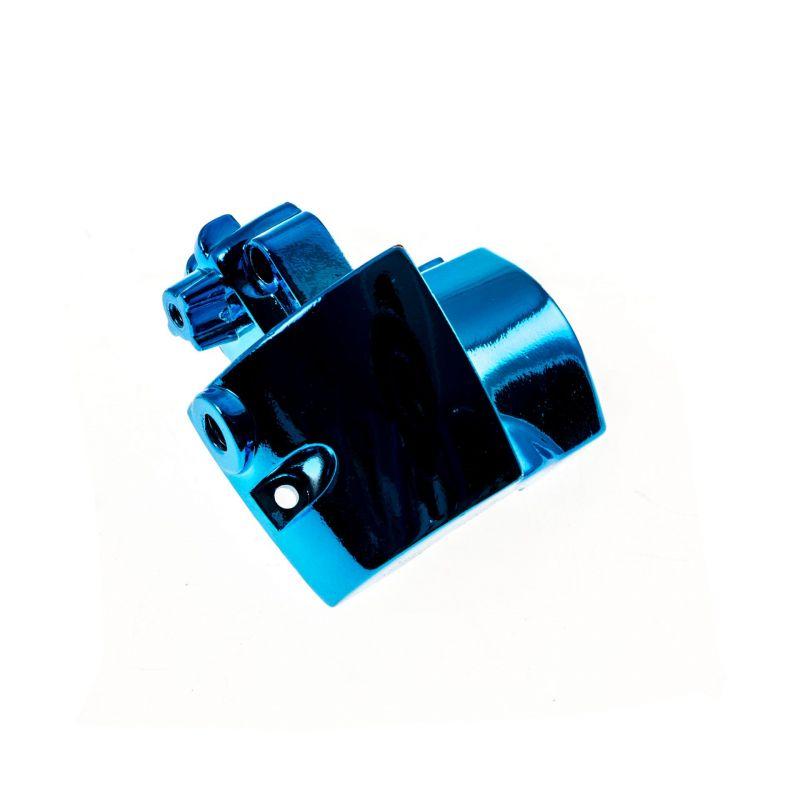 Commodo TNT Tuning bas droit Nitro/Aerox  anodisé bleu - 1