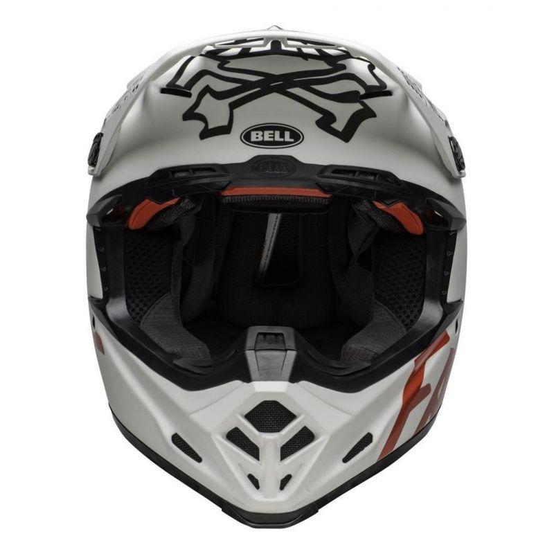 Casque cross Bell Moto 9 Flex Fasthouse WRWF mat/brillant blanc/rouge - 9
