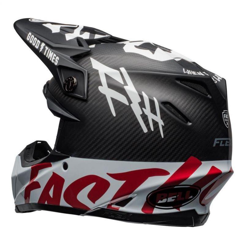 Casque cross Bell Moto-9 Flex Fasthouse WRWF noir/blanc/rouge - 7