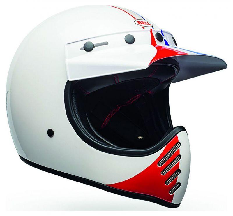Casque Bell Moto 3 Ace Café GP 66 Gloss blanc/rouge - 1